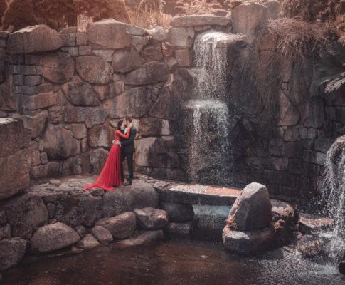 Plener ślubny wśród wodospadów
