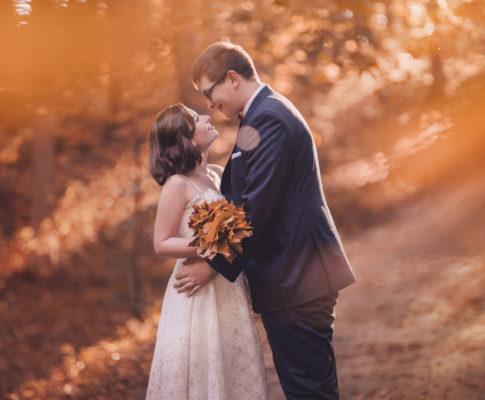 Magda & Arek – jesienny plener ślubny